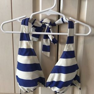 Target Swim - Target blue and white striped bikini set